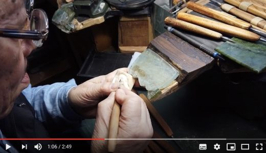 [Repost with new photos] Three videos posted (sneaking into my father's studio, his carving, and handles of carving knives)