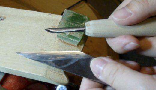 【動画】左刃の小刀の使い方(その1)