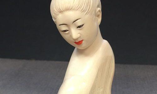 【動画】顔彫り手本の途中の工程から仕上げまで(その6)唇に色を差す