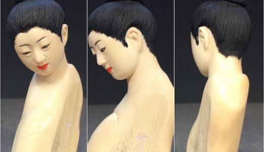 「顔彫り手本」完成品の全景